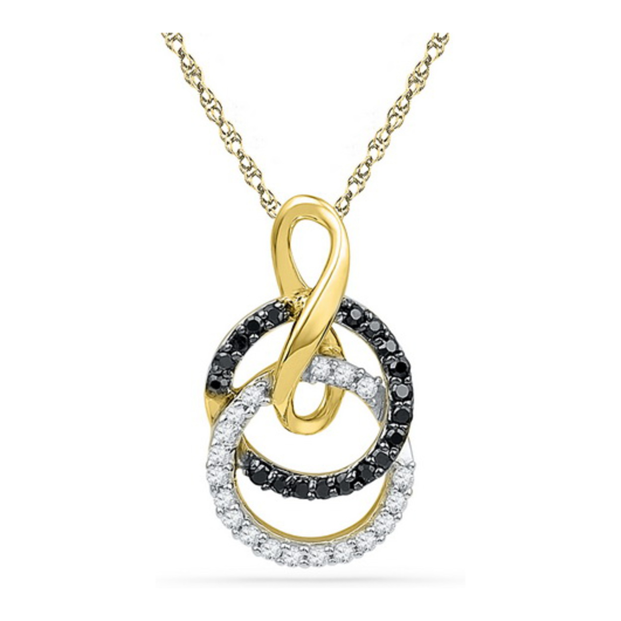 tw chain white kay diamond pendant ct black pin gold necklace