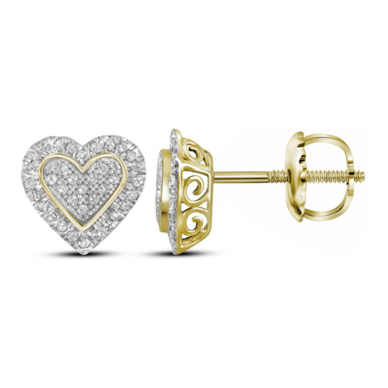 out gold yellow in white with nl and round diamond hoop earring carat hoops prong earrings inside yg ctw charm set stylish jewelry