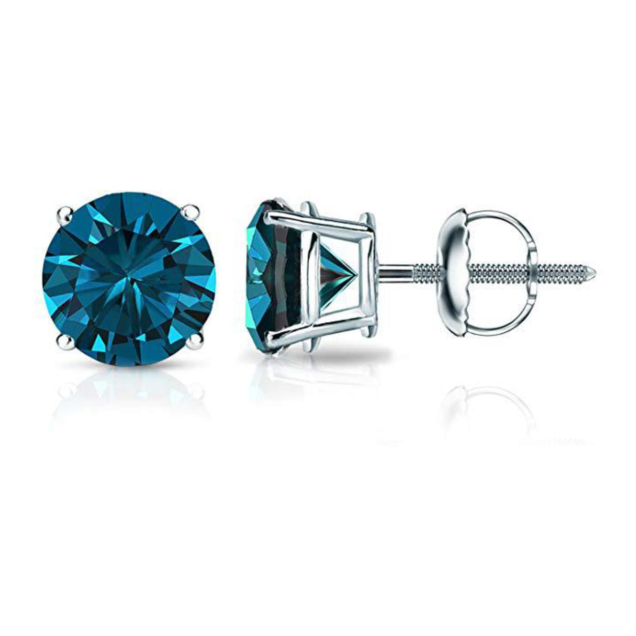 earrings plated sterling silver mens sapphire rhodium black womens stud square cz