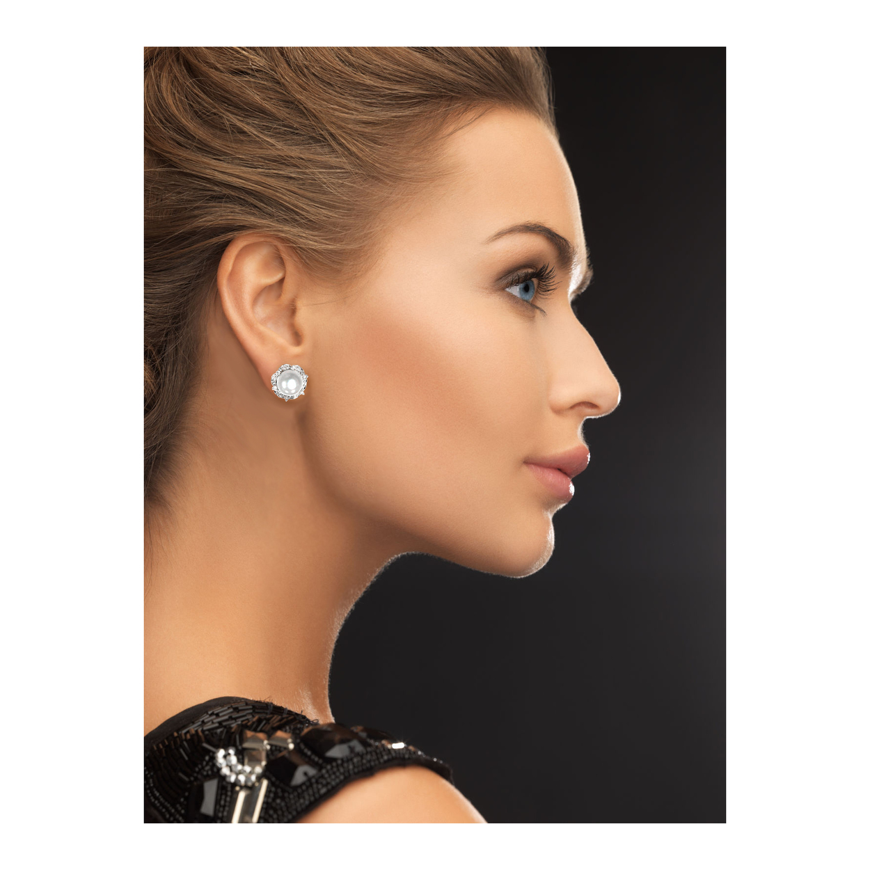 Solid-14K-White-Gold-0-80-cttw-Natural-Diamond-15MM-Cultured-Pearl-Stud-Earrings